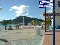 Boardwalk looking west in Philipsburg restaurants St Maarten Philipsburg restaurants Sint Maarten